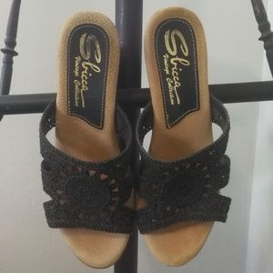Sbicca Wooden Clogs